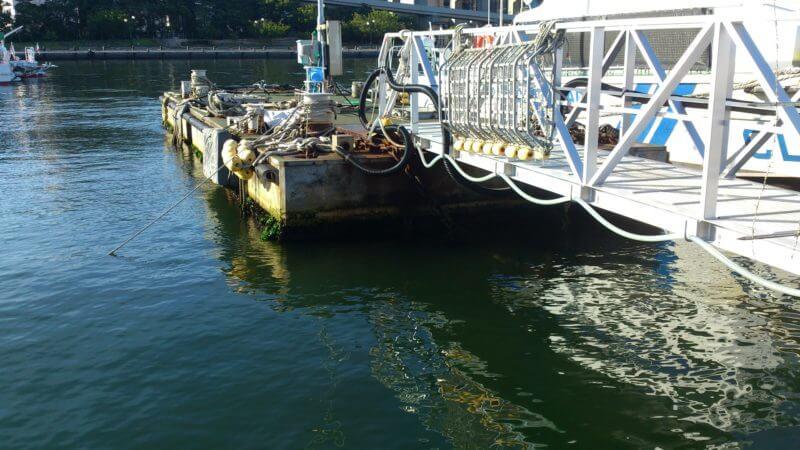 湾奥の桟橋