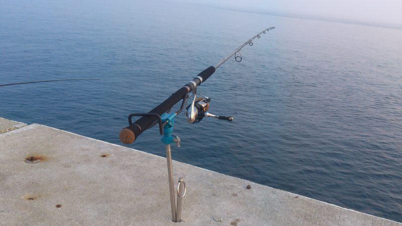 大堤防からクエ釣り