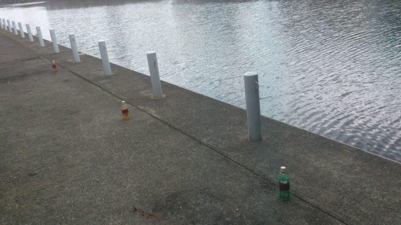 ペットボトル配置風景