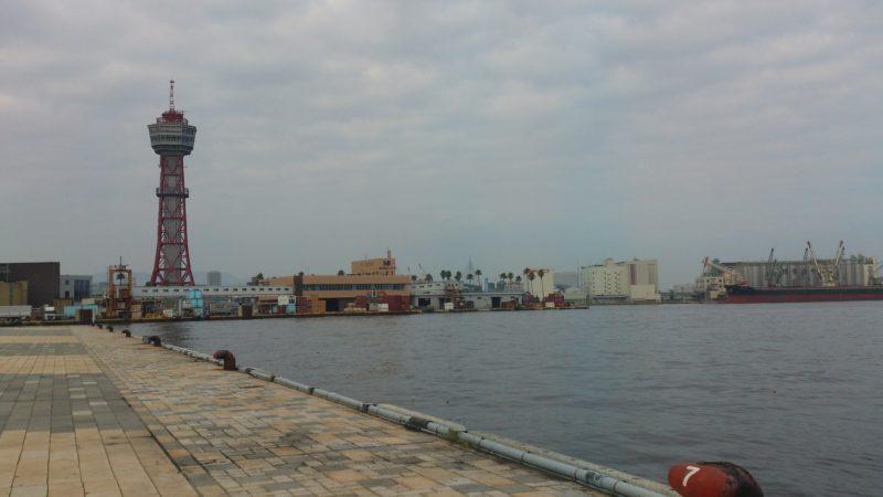 広場から福岡ポートタワー