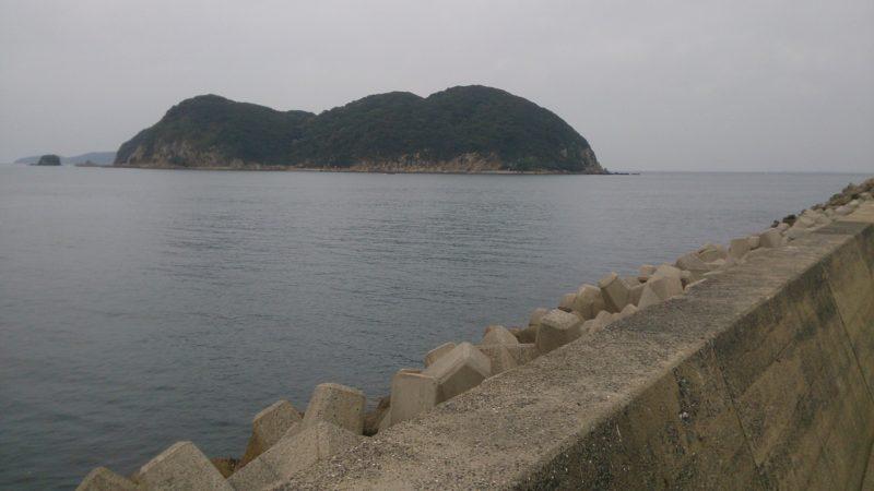 西波止から見た松島