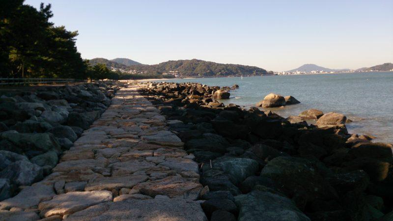 十郎川河口から続く遊歩道