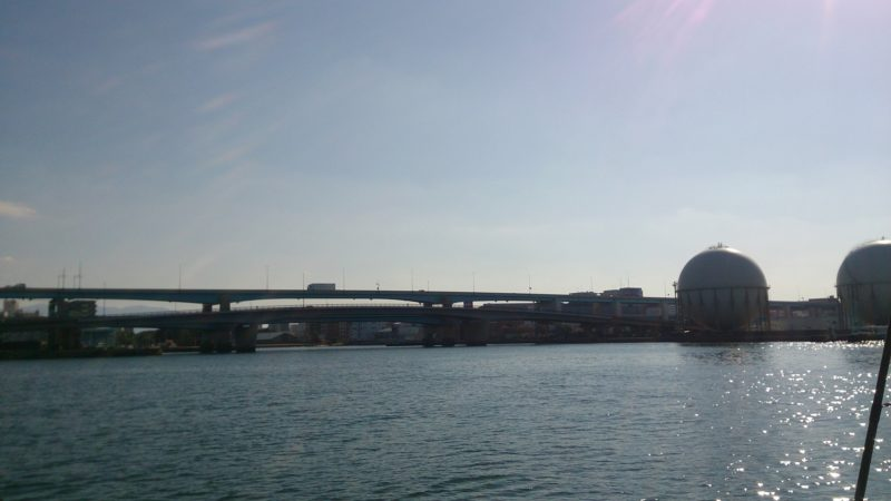はやと丸から見た潮井浜橋