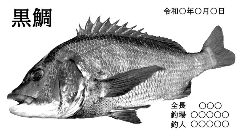 白黒の元祖魚拓